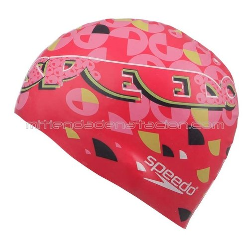 GORRO SILICONA JUNIOR SPEEDO SMOOTH DIVE CAP FUCSIA