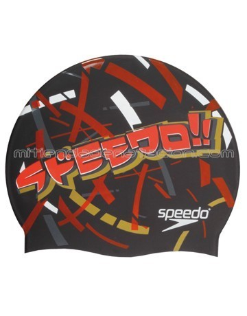 GORRO SILICONA JUNIOR SPEEDO XPRESS LANE CAP BLACK