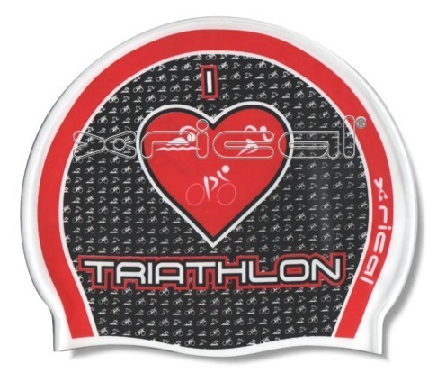 GORRO SILICONA I LOVE TRIATHLON BLANCO